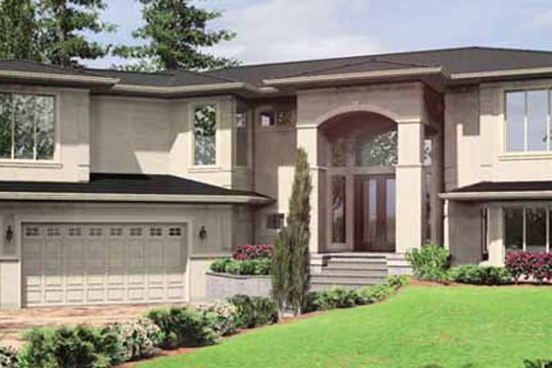 Traditional Exterior - Front Elevation Plan #966-20 - Houseplans.com