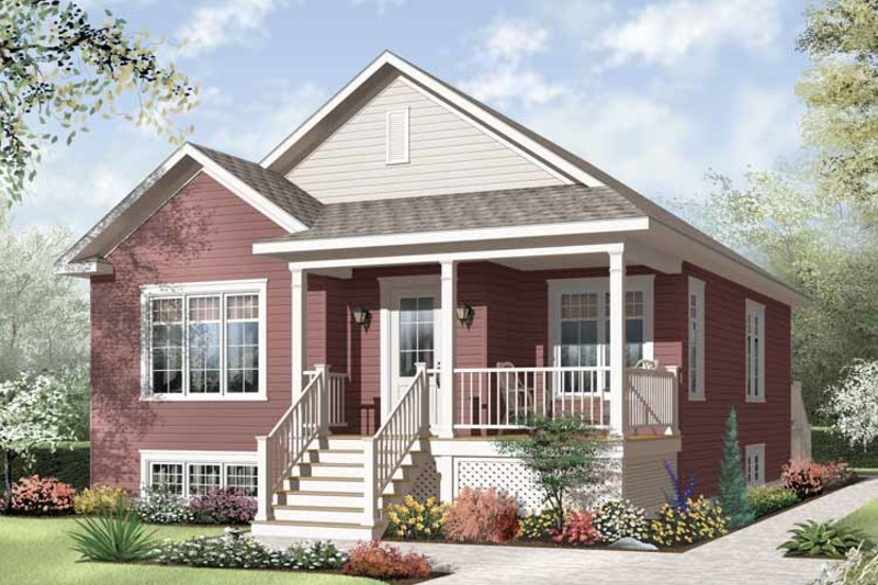 Country Exterior - Front Elevation Plan #23-2377 - Houseplans.com