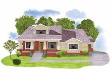 Architectural House Design - Craftsman Exterior - Front Elevation Plan #950-3
