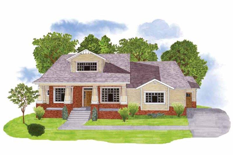 House Plan Design - Craftsman Exterior - Front Elevation Plan #950-3