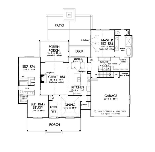 Craftsman Floor Plan - Main Floor Plan #929-1123