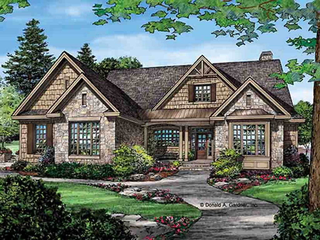 Craftsman style house plan 3 beds 2 baths 2291 sq ft for Craftsman style bed plans