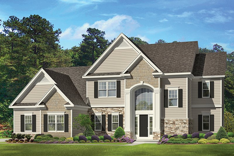 Traditional Exterior - Front Elevation Plan #1010-133 - Houseplans.com