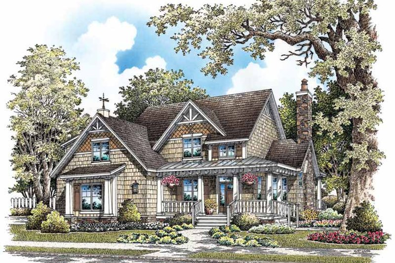 Architectural House Design - Craftsman Exterior - Front Elevation Plan #929-849