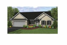 Architectural House Design - Ranch Exterior - Front Elevation Plan #1010-2