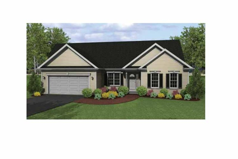 Ranch Exterior - Front Elevation Plan #1010-2