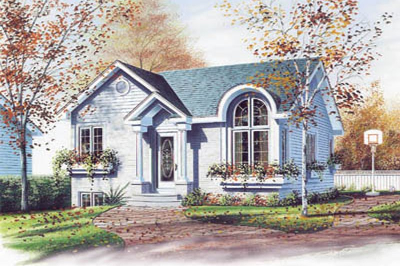 European Exterior - Front Elevation Plan #23-1019
