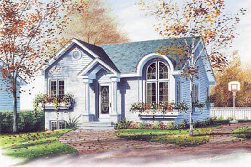 European Exterior - Front Elevation Plan #23-1019 - Houseplans.com