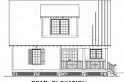 Cabin Style House Plan - 2 Beds 2 Baths 1400 Sq/Ft Plan #17-2356 Exterior - Rear Elevation