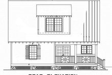 Home Plan - Cabin Exterior - Rear Elevation Plan #17-2356
