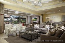 Mediterranean Interior - Family Room Plan #930-456