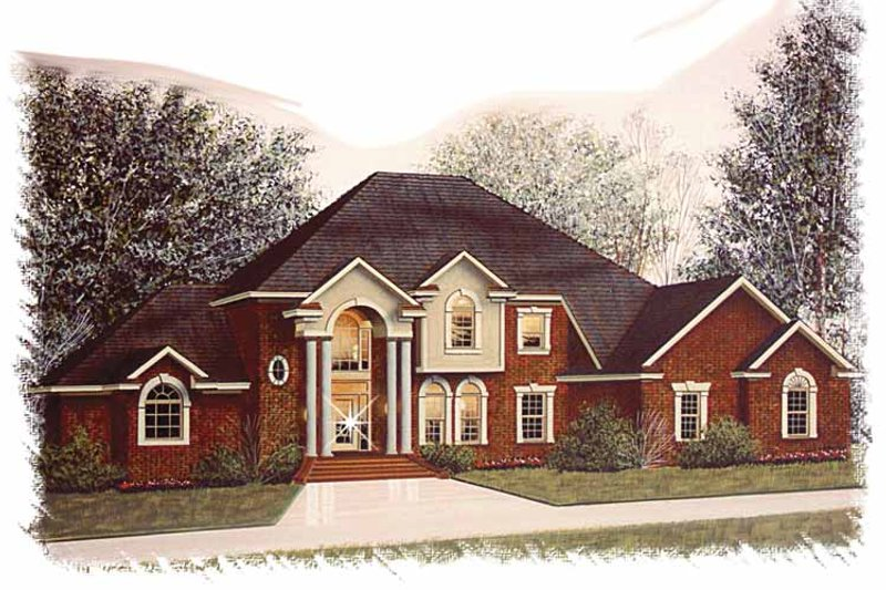 Traditional Exterior - Front Elevation Plan #15-347 - Houseplans.com