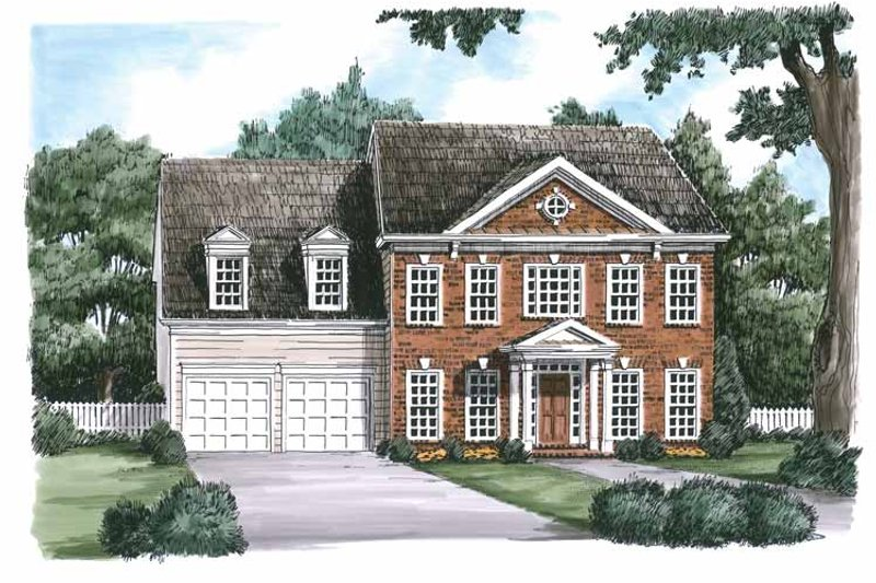 Classical Exterior - Front Elevation Plan #927-617