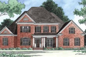 Dream House Plan - Traditional Exterior - Front Elevation Plan #1054-8