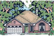 Traditional Style House Plan - 4 Beds 2 Baths 1701 Sq/Ft Plan #42-670 Exterior - Front Elevation