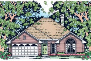 Home Plan - Traditional Exterior - Front Elevation Plan #42-670