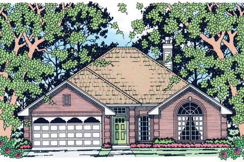 Traditional Exterior - Front Elevation Plan #42-670 - Houseplans.com
