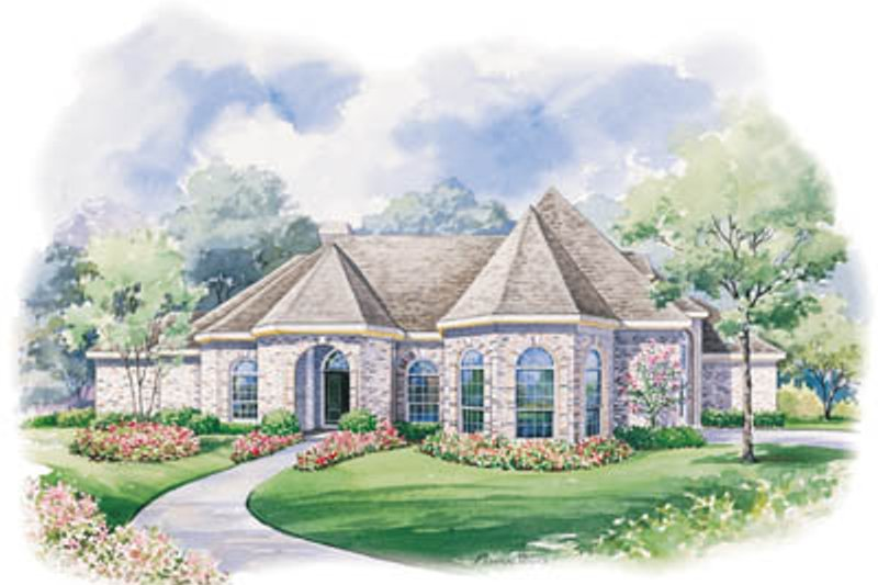 House Design - European Exterior - Front Elevation Plan #20-1175