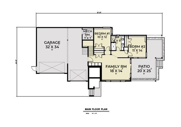 Dream House Plan - Contemporary Floor Plan - Main Floor Plan #1070-136