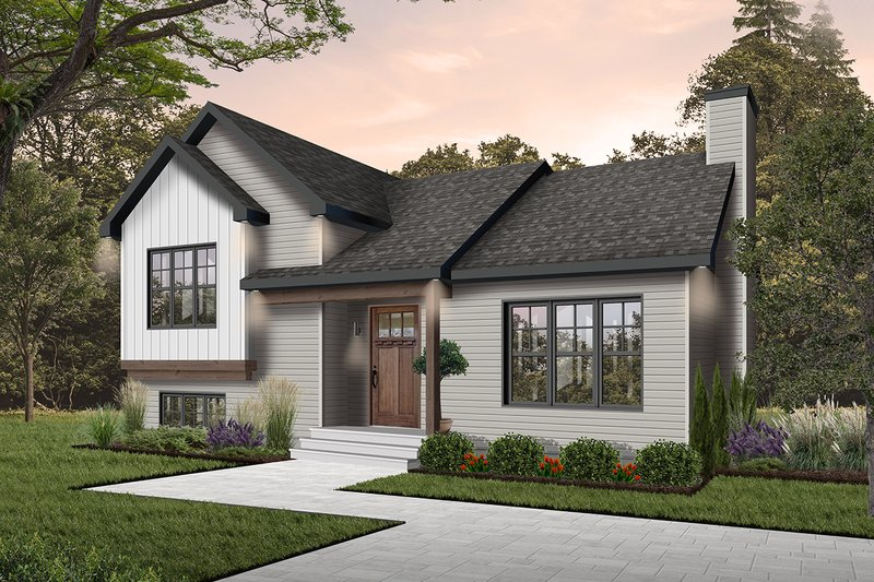 House Plan - 2 Beds 1 Baths 1595 Sq/Ft Plan #23-138 Exterior - Front Elevation