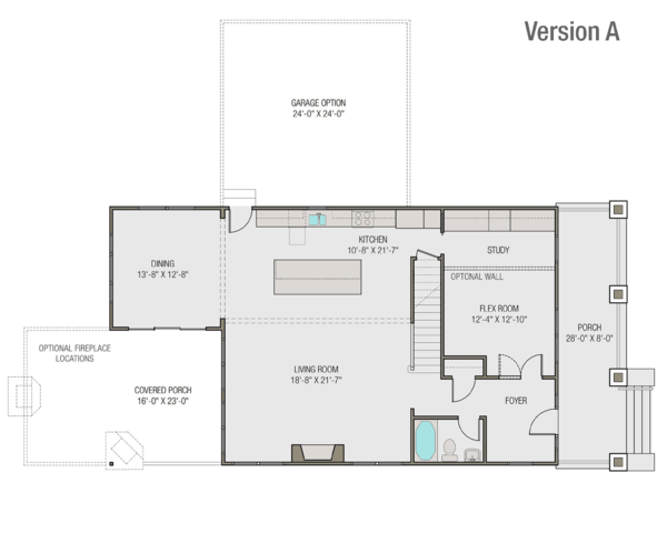 Craftsman Floor Plan - Main Floor Plan Plan #461-65