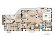 Beach Style House Plan - 4 Beds 4.5 Baths 12570 Sq/Ft Plan #27-546 Floor Plan - Main Floor Plan