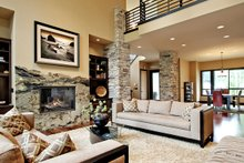 Architectural House Design - Modern Interior - Family Room Plan #132-221