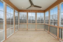 Home Plan - Ranch Exterior - Covered Porch Plan #70-1497