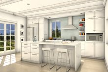 House Blueprint - Colonial Interior - Kitchen Plan #497-49