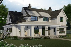 Home Plan - Farmhouse Exterior - Front Elevation Plan #51-1153