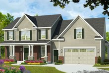 Colonial Exterior - Front Elevation Plan #1010-191