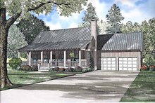Country Exterior - Front Elevation Plan #17-3240