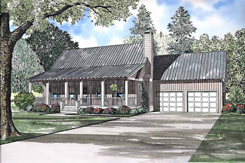Architectural House Design - Country Exterior - Front Elevation Plan #17-3240