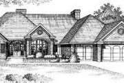 European Style House Plan - 4 Beds 3 Baths 3254 Sq/Ft Plan #310-130 Exterior - Front Elevation