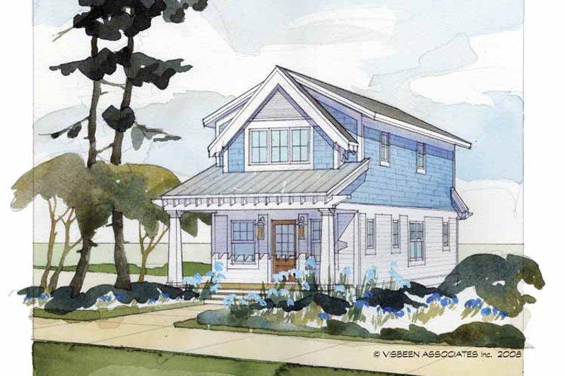 Craftsman Exterior - Front Elevation Plan #928-174