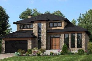 Modern Exterior - Front Elevation Plan #138-356