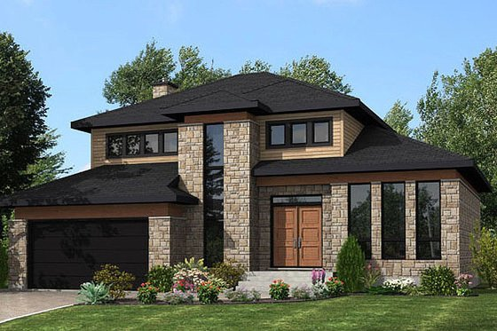 Modern Exterior - Front Elevation Plan #138-356