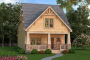 Bungalow Style House Plan - 4 Beds 3 Baths 2211 Sq/Ft Plan #419-297 Exterior - Front Elevation