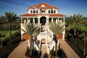 Mediterranean Style House Plan - 5 Beds 6.5 Baths 7211 Sq/Ft Plan #929-900 Exterior - Front Elevation