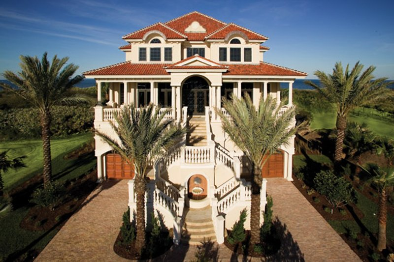 House Plan Design - Mediterranean Exterior - Front Elevation Plan #929-900