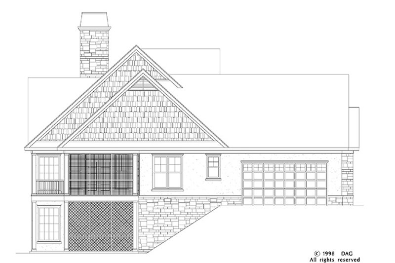 Craftsman Exterior - Other Elevation Plan #929-872 - Houseplans.com