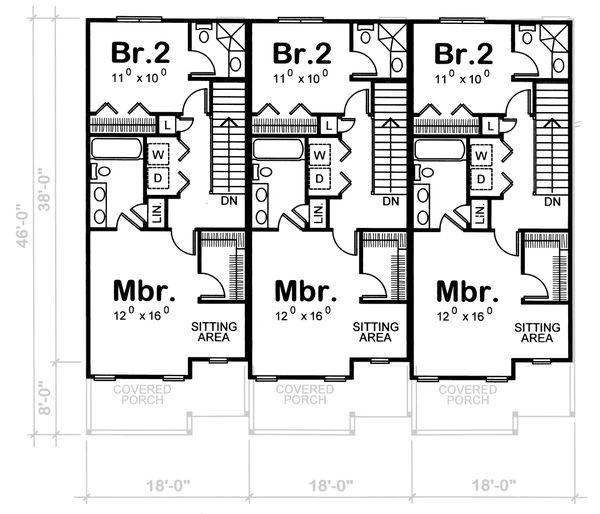 Home Plan - Craftsman Floor Plan - Upper Floor Plan #20-411