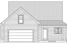 Ranch Exterior - Rear Elevation Plan #991-28