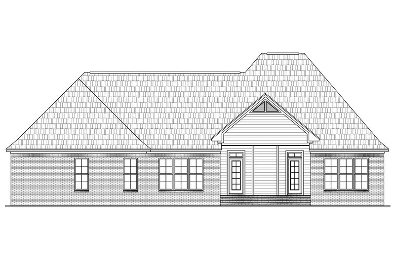 European Exterior - Rear Elevation Plan #21-380 - Houseplans.com