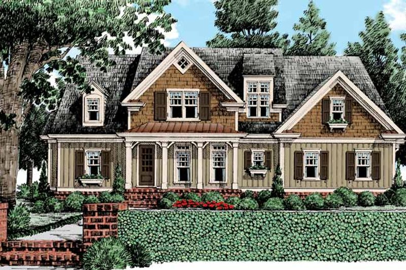 Home Plan - Country Exterior - Front Elevation Plan #927-434