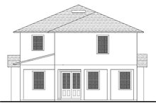 Southern Exterior - Rear Elevation Plan #1058-75