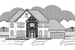 Traditional Exterior - Front Elevation Plan #411-130