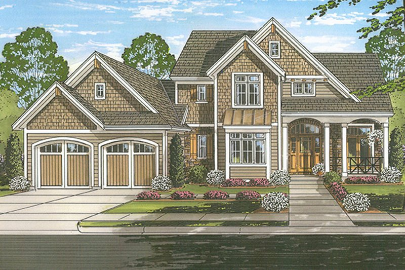 Architectural House Design - Traditional Exterior - Front Elevation Plan #46-850
