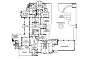 Mediterranean Style House Plan - 5 Beds 6 Baths 6302 Sq/Ft Plan #1058-25 Floor Plan - Main Floor Plan