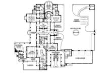 Mediterranean Floor Plan - Main Floor Plan Plan #1058-25